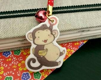 Kawaii Cute 2016 Lucky Monkey Phone Charm Strap