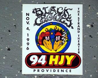 WHJY - Black Crowes - Bumper Sticker - 1996