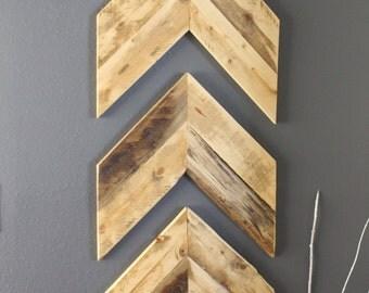 Wooden Chevron Wall Art