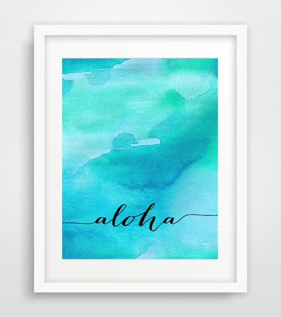 Wall Art Prints Download : Aloha printable art print nursery wall