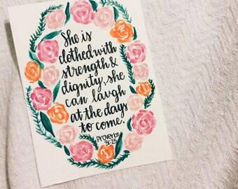 Proverbs 31:25 Print