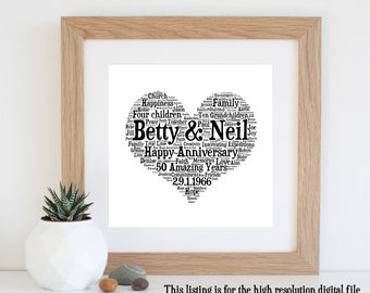 15th Wedding Anniversary Gift Ideas For Parents : ... golden wedding anniversary 50th anniversary gifts for parents 18 00