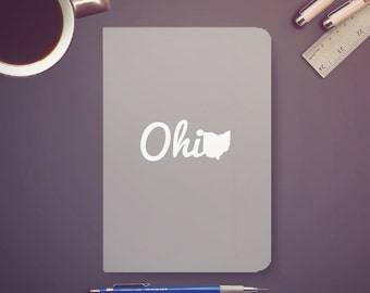 Ohio Silver Journal Notebook Sketchbook