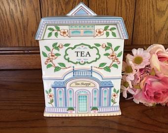 """Lenox village canisters """"Tea"""""""