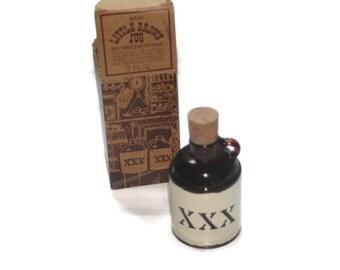 Little Brown Jug, Avon Bottle, Full With Box, Deep Woods After Shave, 2 fl oz Bottle