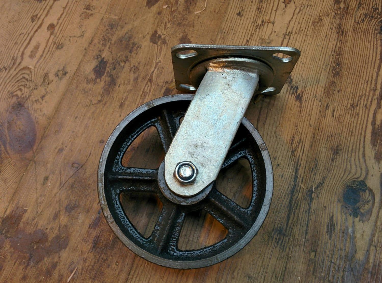 6 ruedas industriales de hierro fundido giratorio de alta for Ruedas industriales antiguas para muebles