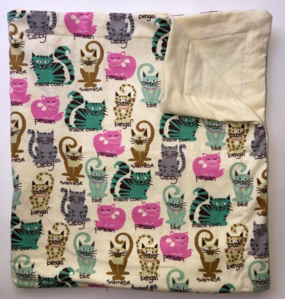 sensory sale weighted blanket cats kitties 6 lbs handmade. Black Bedroom Furniture Sets. Home Design Ideas
