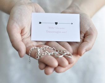 Maid of honor gift - card with Infinity bracelet
