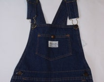 VTG 70s Madewell Girl's Denim Skirt Overalls UNKNOWN SIZE see measurements