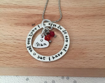loss of mother, remembering a loved one, in loving memory, loss of mum, in memory of mum, sympathy gift, memory jewelry, gifts for her, mum