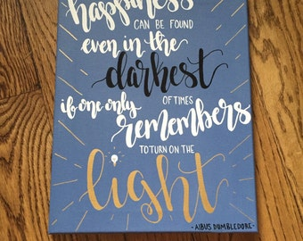 Harry Potter Quote Canvas