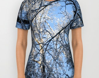 Arboles Frios   All Over Print T-Shirt Wearable Art/Tees/Shirt/Shirts/Women/Men/Teens/Girls/Boys/Plus Size/XS-S-M-L-XL-2XL