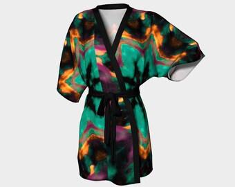 AURORA  Kimono Robe Beach Coverup Clothing Lounging Coverup Beach Wedding Gift Women S-M-L-XL Housecoat