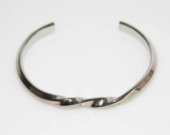 Twisted Silver Cuff Bracelet