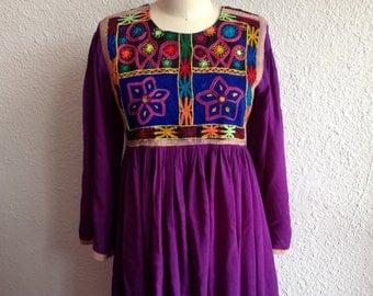 1960s Embroidered hippie dress