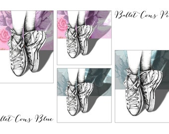 Hand Drawn 'Ballet Cons' Limited Edition Print