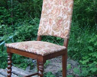 Tapestry FLOWER Antker upholstered Chair Gründerzeit solid made from wood - 1335