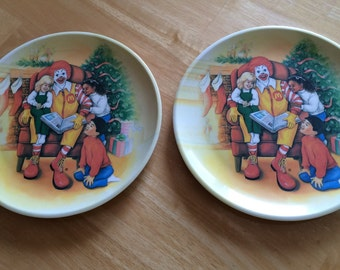 Ronald McDonald Child Plates Ronald McDonald Christmas Plates Ronald McDonald Child Lunch Dessert plates