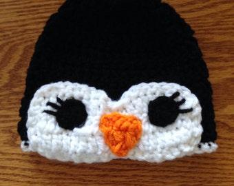 Handmade penguin hat