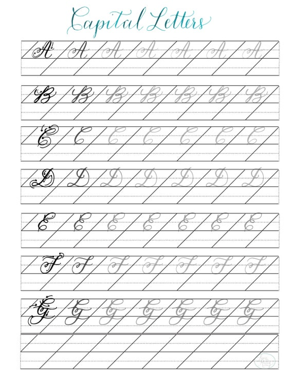 Calligraphy Practice Book Digital Download From