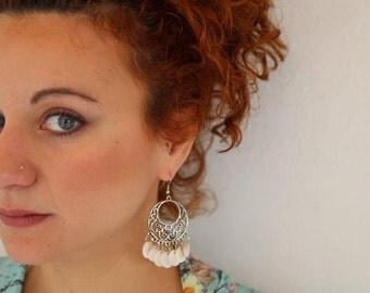 Shell Earrings Boho Earrings Beach Earrings Beach Accessories Unique Earrings Gift for Her Summer Jewelry Sheashell Handmade Earrings