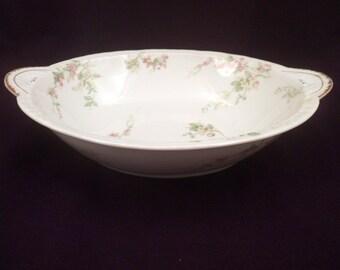 Theodore Haviland Limoges Serving Bowl, Schleiger 1240, Antique Porcelain, 1903