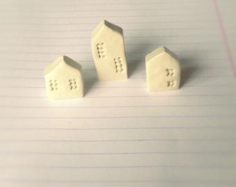 Handmade polymer clay houses