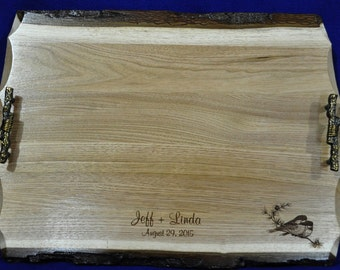Wedding Gift ~ Gift For Parents ~ Engraved Gift For Couple ~  Serving Tray ~  Personalized Wedding Gift ~ Attendants Gift ~ Wood Tray ~ USA