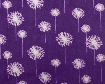 Purple Amethyst Dandelion Minky All Sizes of Blankets Monogram Option Choose Color For Back
