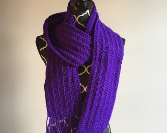 SALE! Purple Scarf With Fringe!