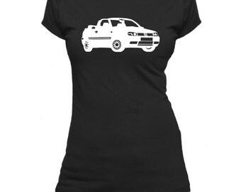 VW Golf Cabrio Mk3. Ladies fitted t-shirt.