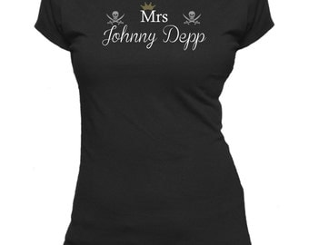 Mrs Johnny Depp. Ladies fitted t-shirt.