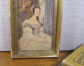 Small Framed Print - Young Lady - Gold Plastic Frame