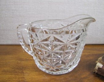 Small Pressed Glass Creamer