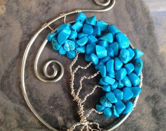 Turquoise Tree of Life Necklace