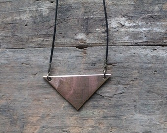 Triangle Pendant Necklace by YeouDesigns