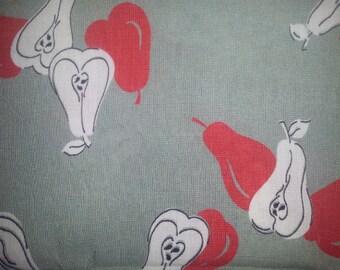 Vintage Fabric - pear print