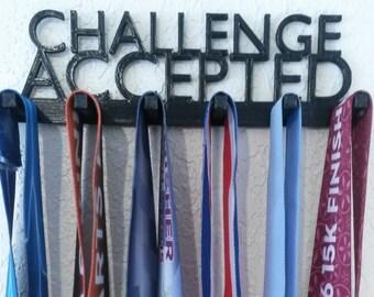 Challenge Accepted Marathon Medal Display Medal Rack Medal Holder Running Medal Hanger Race Medal Holder