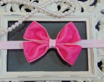 Pink velvet Headband
