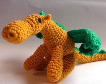 Golden Crochet Dragon