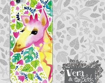 Watercolor Giraffe iPhone case, iPhone 6 case, iPhone 5 case, iPhone 4 case, watercolor iphone cases, iPhone 6 plus, iphone giraffe