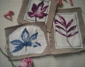 Upcycled autumn leaf patches