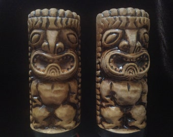 TIKI SALT & PEPPER Shakers Vintage
