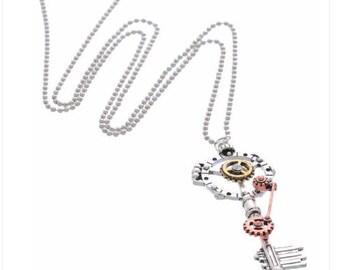 Necklace antique key steampunk