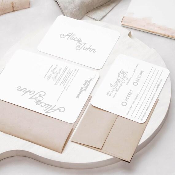Standard Wedding Invitations By YourWeddingCountdown On Etsy