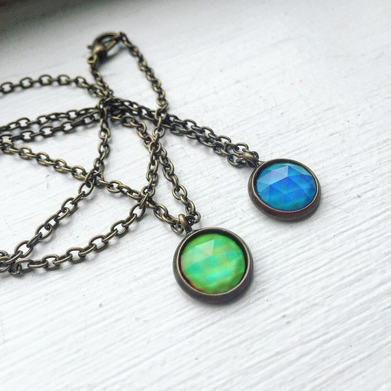 color changing mood necklace by rockswithsass on etsy