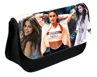 Selena Gomez Special Theme Pencil Case Or Make-Up Bag Black