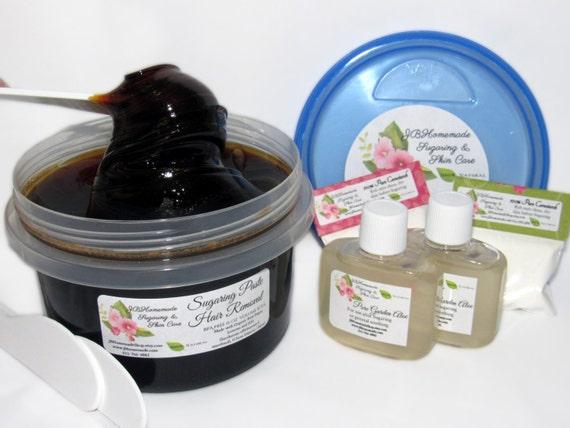 Sugaring Paste Natural Hair Removal for Thicker Hair - BULK BPA FREE 16 Oz
