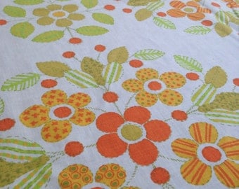 Vintage 70's Floral Fabric
