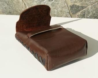 Vintage  Leather Cigarette Case, Cigarettes Box Holder Handmade, Vintage Leather Cigarette Case, Handmade Distressed Case, Gift for Him